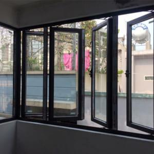 cửa sổ nhôm mở quay 4 cánh xingfa 2